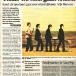 Viktor in het Algemeen Dagblad met een interview over Monsterpop